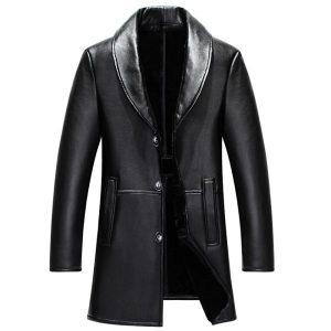 Leather Mens Coat -4