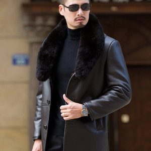 Leather Mens Coat-6