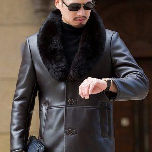 Leather Mens Coat-7