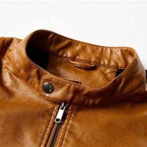 Men Leather Jackets Zipper-6