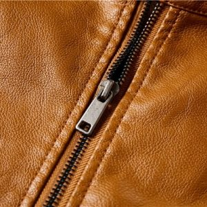 Men Leather Jackets Zipper-7