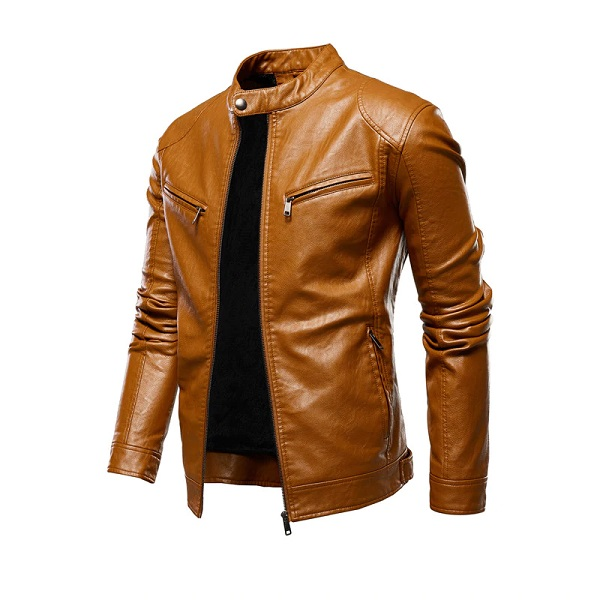 Men Leather Jackets Zipper