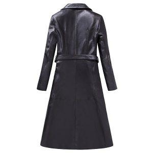 Women Leather Jacket Long -1