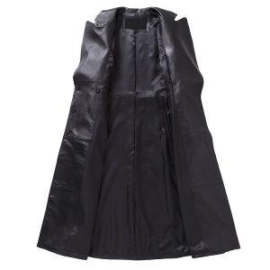 Women Leather Jacket Long -2