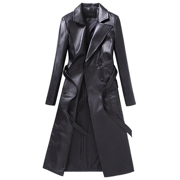 Women Leather Jacket Long