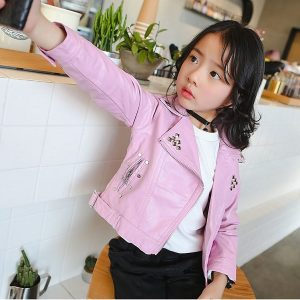 girls leather jacket-3