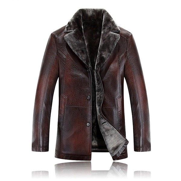 Men leather jackets Velvet-1