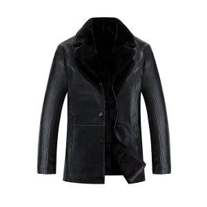 Men leather jackets Velvet-2