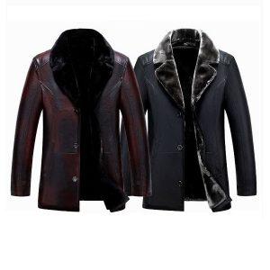Men leather jackets Velvet-4