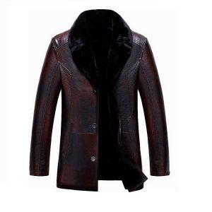 Men leather jackets Velvet-5