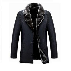 Men leather jackets Velvet-6