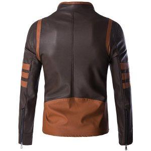 zipper leather jacket -1