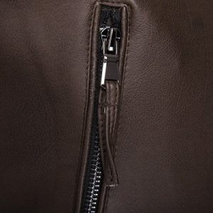 zipper leather jacket -3