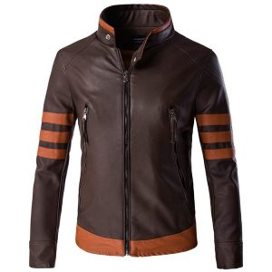 zipper leather jacket