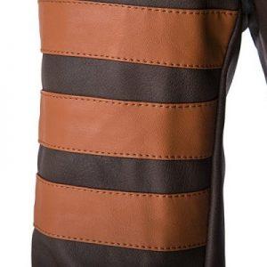 zipper leather jacket -4
