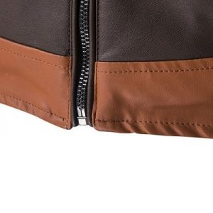 zipper leather jacket -5
